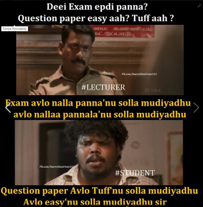 exam mokkai   tamil memes
