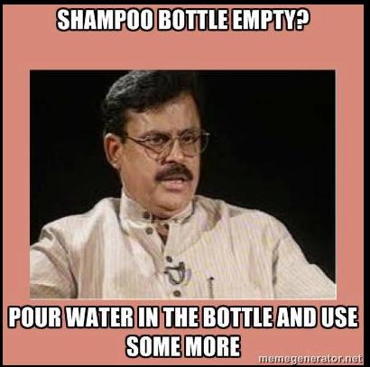 Shampoo bottle empty?