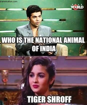 National Animal of India Alia Bhatt meme