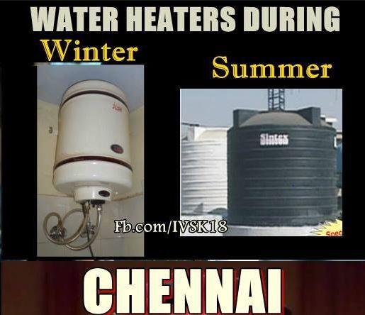 Winter Vs. Summer in Chennai