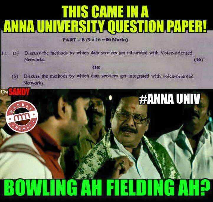 Anna University Question Paper comedy