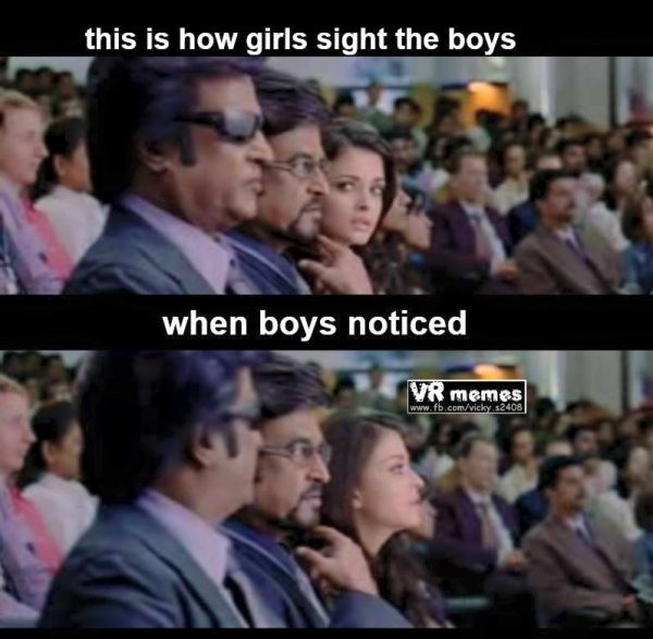 How boys sight girls