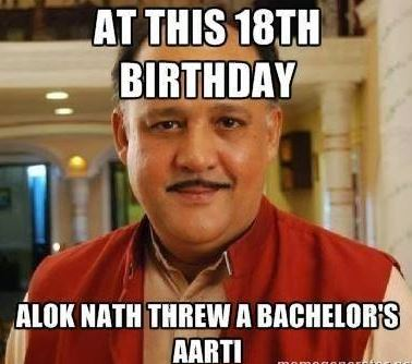 Alok nath on his 18th birthday