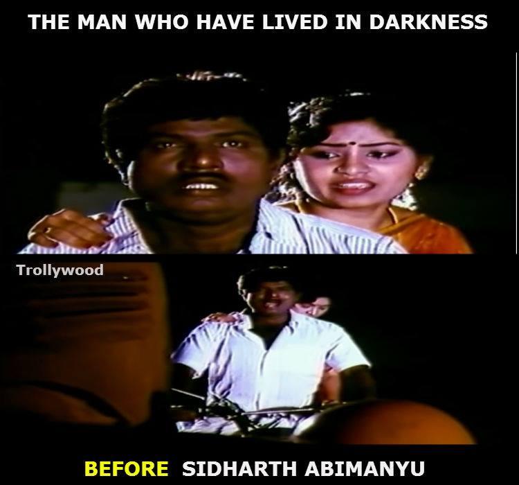 Siddharth Abhimanyu Vs. Goundamani meme