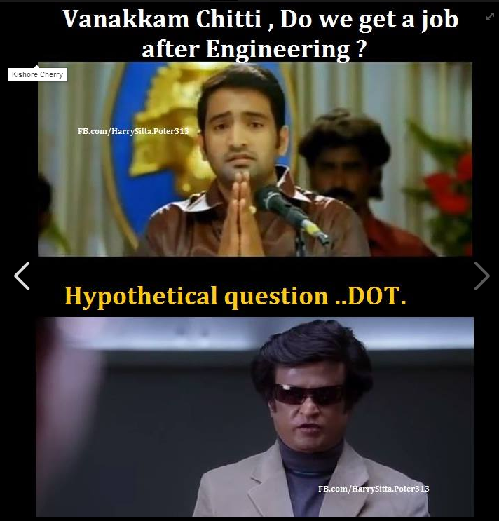 Job After Engineering Tamil Memes
