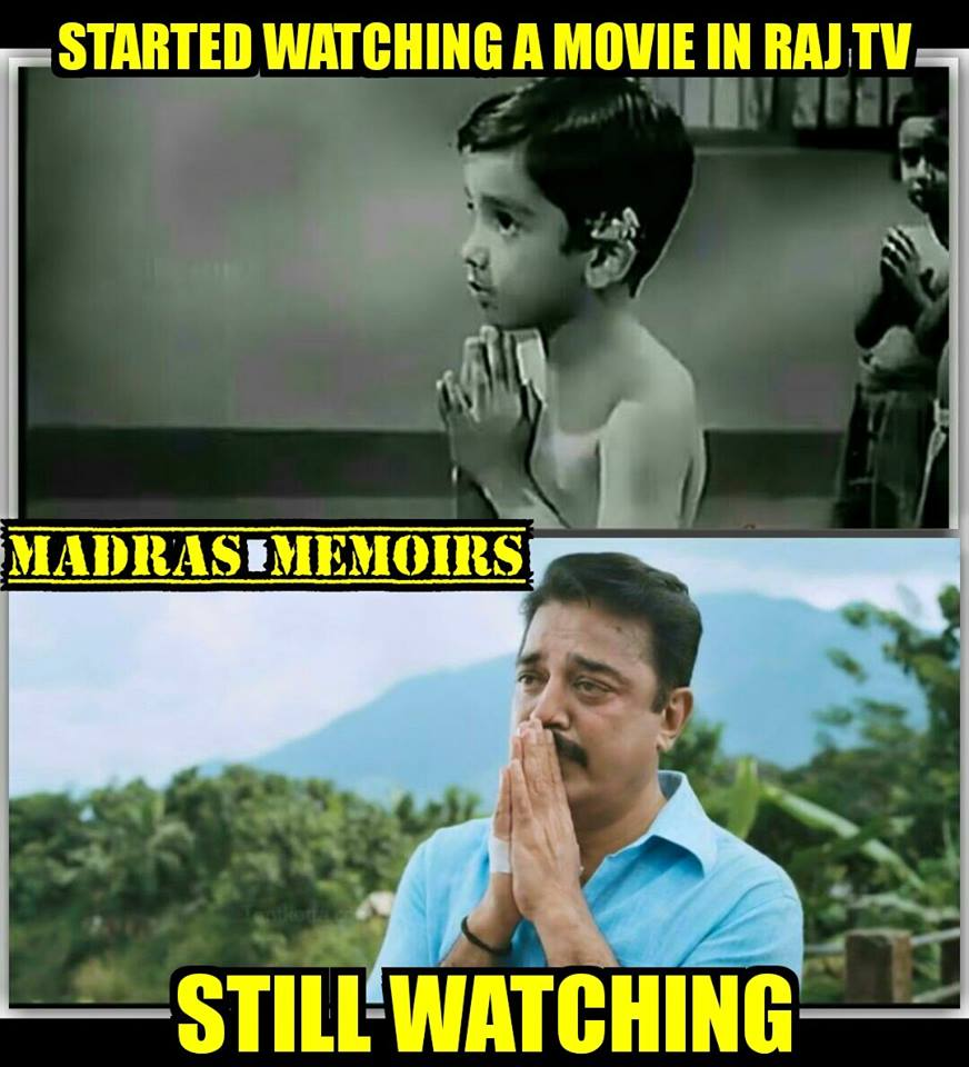Started watching a movie in Raj TV