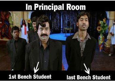 First Bencher Vs. Last Bencher in front of Princi