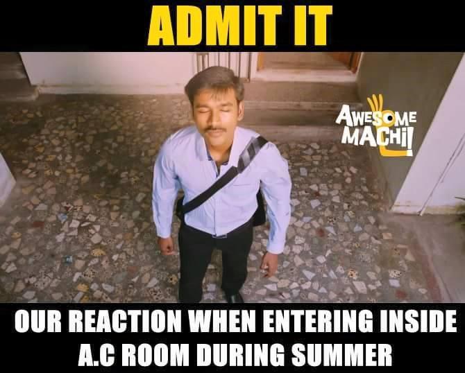 Entering AC room