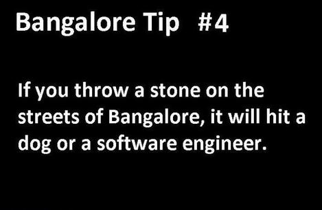 Throwing a stone in Bangalore