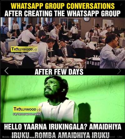 Whatsapp group conversations - Tamil Memes