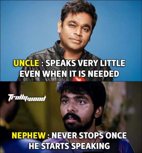 Uncle Vs. Nephew ARR Vs. GVK