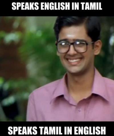 Speaks Tamil in English Chennai boy