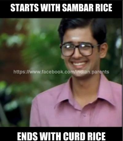 Sambar and Curd