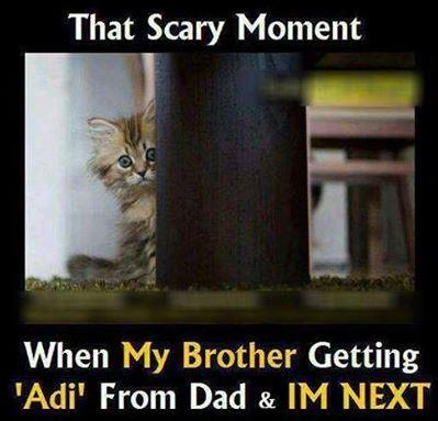 That scary moment