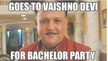 Where does he go for bachelor's party