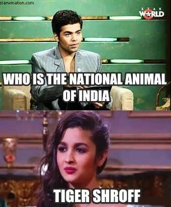 National Animal of India Alia Bhatt meme