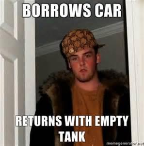 Scumbag Steve borrows a car