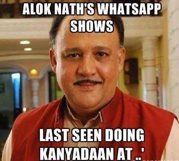 Alok Nath's Whatsapp status