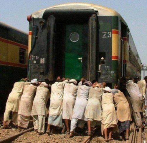 Train starting trouble joke