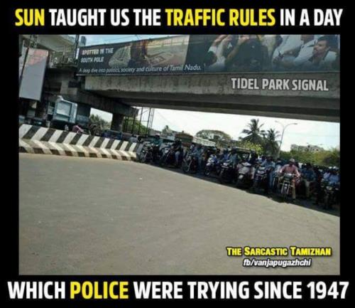Traffic rule in Chennai