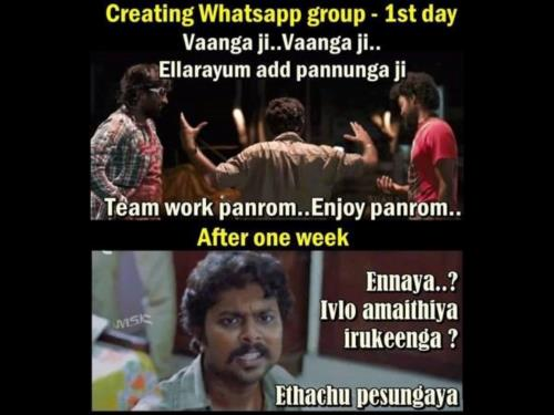 Creating Whatsapp Group - Tamil Memes
