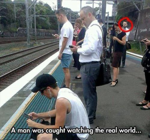 A Man was caught watching the real world meme