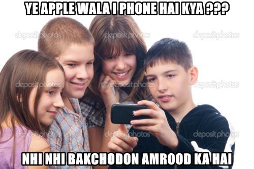 YE APPLE WALA I PHONE HAI KYA ???
