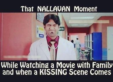 That Nallavan Moment during Kissing Scene