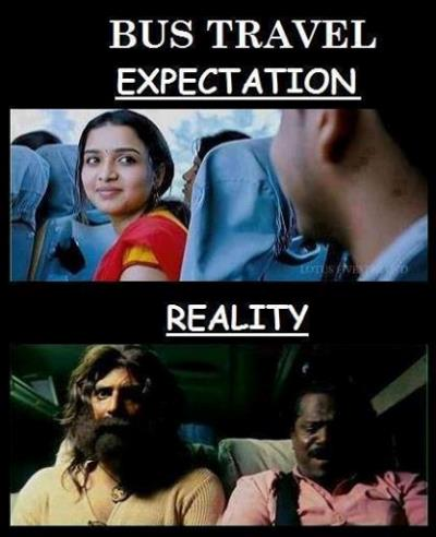 Bus Journey - Expectations Vs. Reality