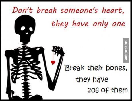 Don't break someone's heart
