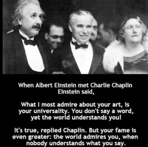 Charlie Chaplin Vs. Albert Einstein