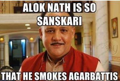 What does Alok Nath smoke?