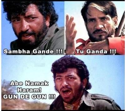 Gabbar Singh coomedy