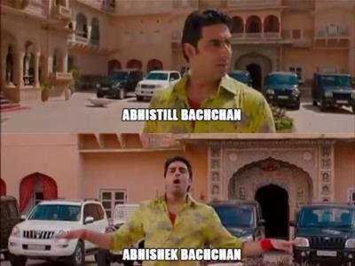 Abshishek Bachan meme