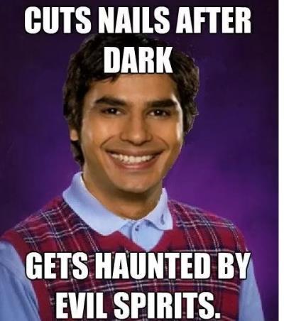Cuts nail in the Dark