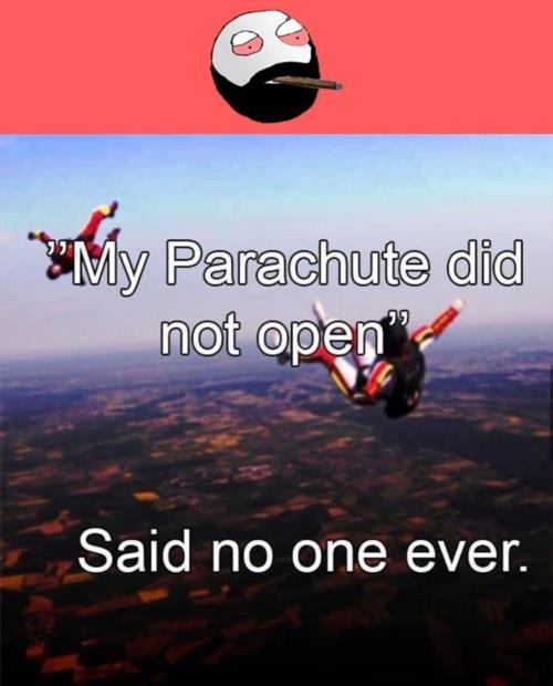 Parachute did not open