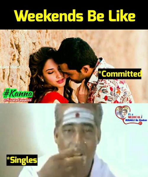 Weekend committed vs. Singles